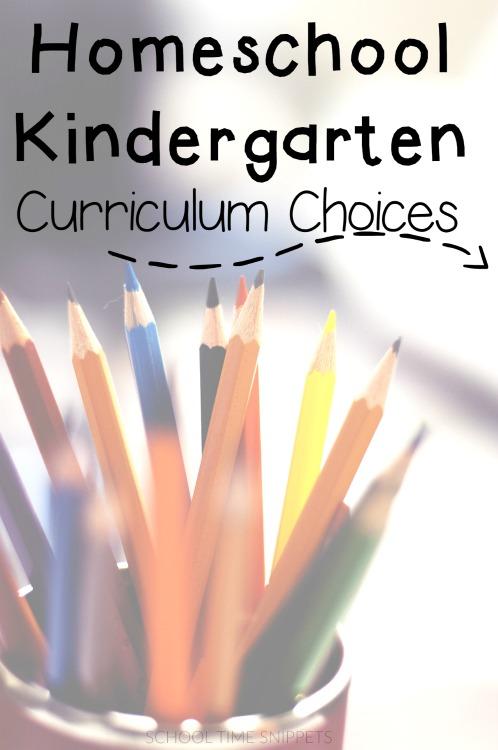 Curriculum Choices Kindergarten