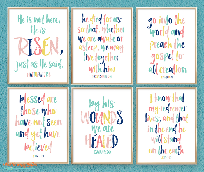 Colorful Scripture Printable Sale