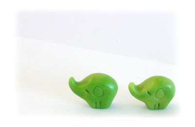 Faux Jade polymer clay elephant charms faux jade tutorial
