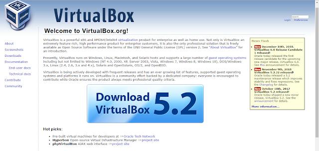 Virtual Box display