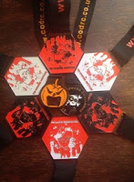 2014 November Nightmare medals  with Pumpkin & Spooky in the centre