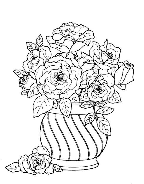 Flower Vase Coloring Page Flower Vase Coloring Page Printable Coloring  Pages Vase Coloring