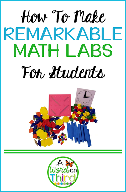 How To Make Remarkable Math Labs For Students By A Word On Third