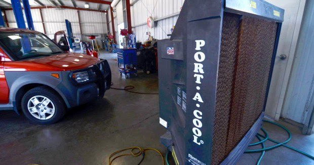 Effective to cool car workshops | PORTABLE ENVIRONMENTALLY