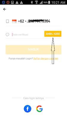 cara mendaftarkan nomor hp di aplikasi hago android