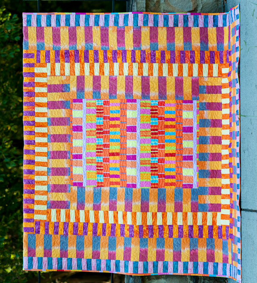 Free Pattern Day Kaffe Fassett Quilting And Sewing Quilt Kaos Pria T Shirt Short Sleeve Sy761 Stripes Galore 71 X 83 By Pdf Download