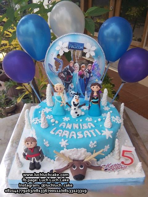 Kue Tart Ulang Tahun Frozen Disney