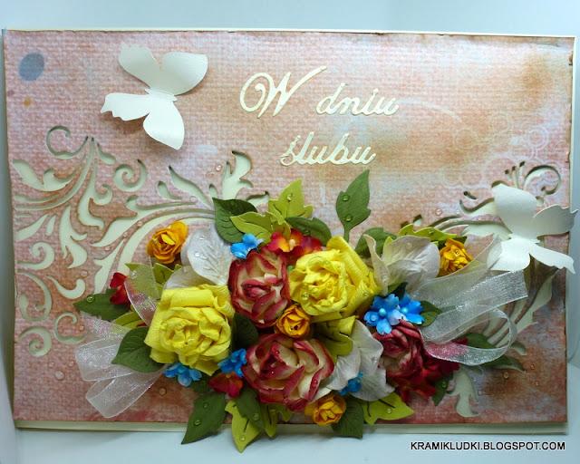 Kartka ślubna i ciąg dalszy podziękowań:)