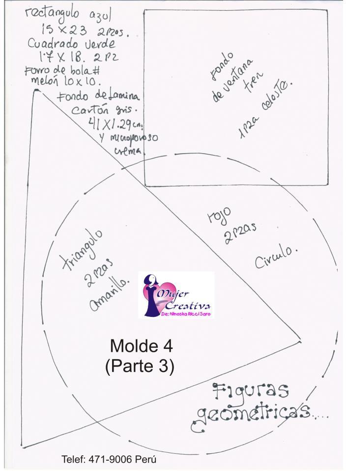cartel figuras geométricas moldes