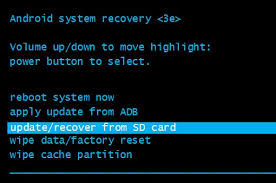 android system recovery or terminal