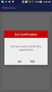 Android custom alert dialogue examples
