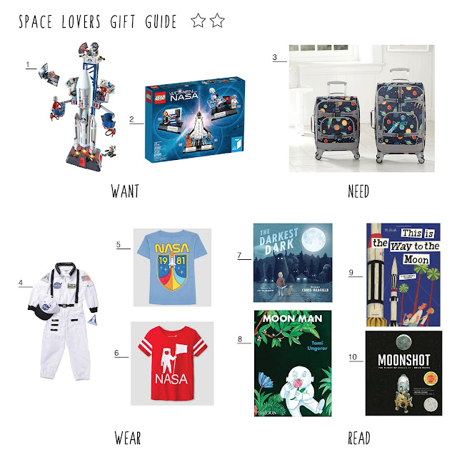 space gifts, gift guide, books