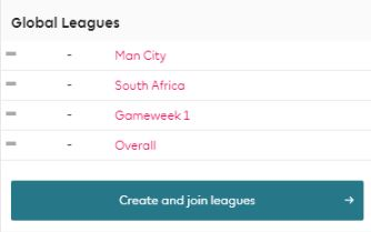 Global Leagues - Join League - Fantasy Premier League