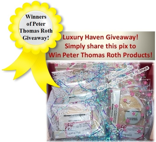 luxury haven peter thomas roth giveaways
