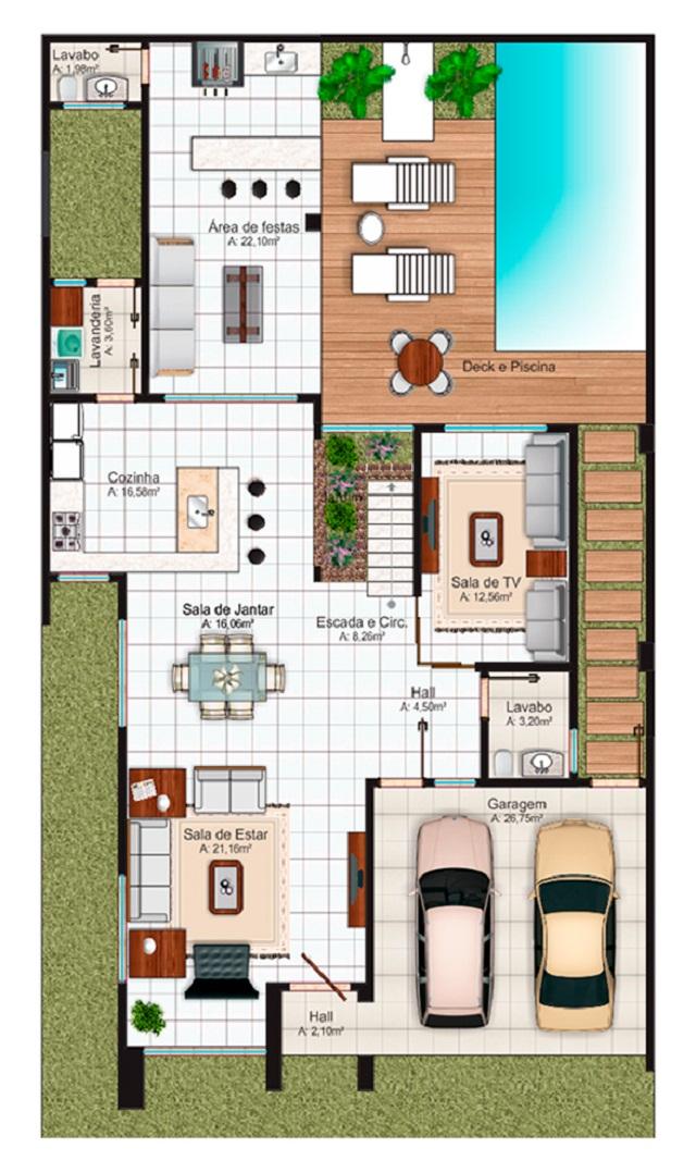 Planos de casas gratis y departamentos en venta for Plano alberca