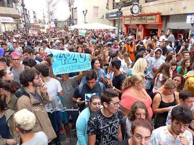 Seguimiento huelga general de educación en Canarias 9M