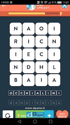 WordBrain 2 soluzioni: Categoria Sci (4X5) Livello 1