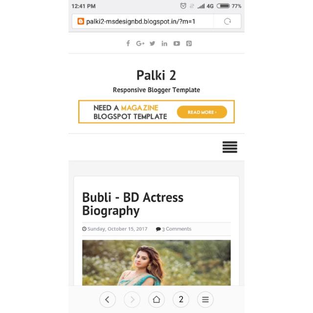 Palki 2 premium blogger template by gourab