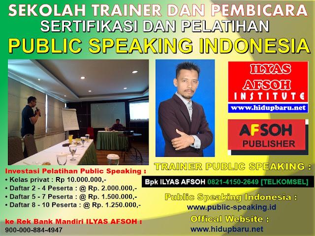 Pelatihan dan Sertifikasi Public Speaking Jakarta Selatan 2017 2018