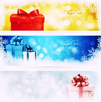 christmas gift banner vector By Zcool.com.cn