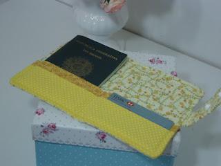 capa de tecido para passaporte