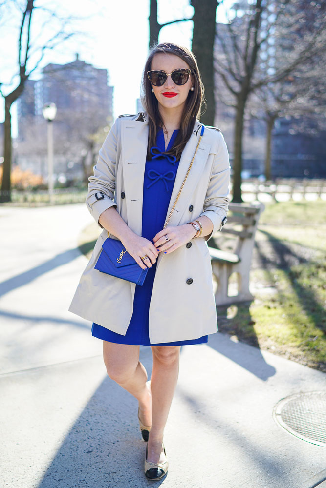 Krista Robertson, Covering the Bases,Travel Blog, NYC Blog, Preppy Blog, Style, Fashion Blog, Travel, Fashion, Style, Must Have Designer Items, Classic Fashion, Chanel Flats, Burberry Trench Coat, Spring Style, Spring Fashion, Preppy Looks, Royal Blue