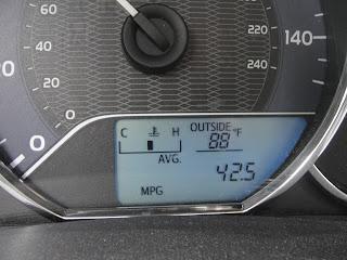42.5 miles per gallon