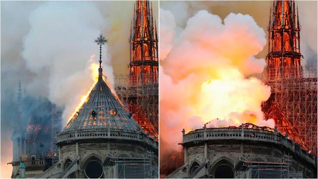 Masjid Al Aqsa dan Katedral Notre Dame Terbakar di Saat Bersamaan