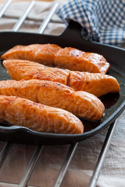 Pečeni fileti lososa