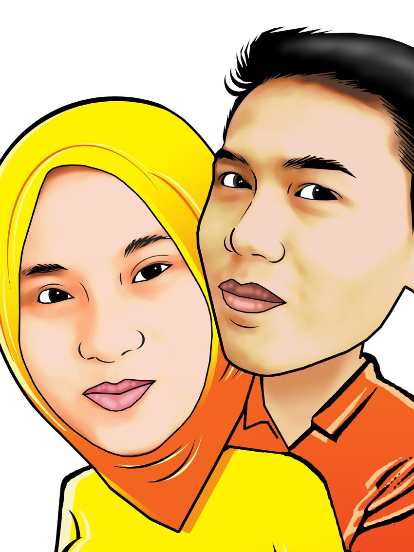 PESAN KARIKATUR MURAH Karikatur Couple