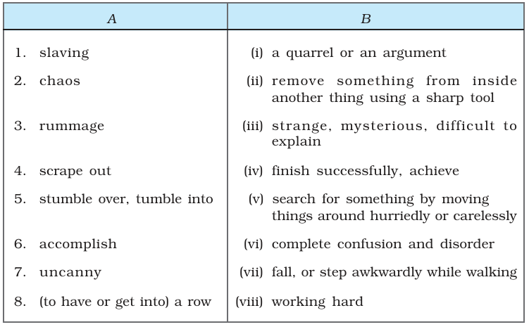 NCERT Solutions for Class 9th: Ch 7 Packing English - Study