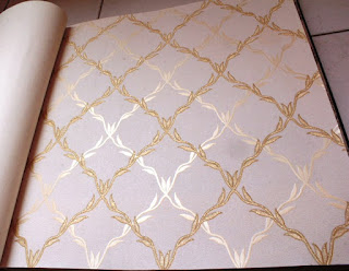 wallpaper dinding emboss diamond