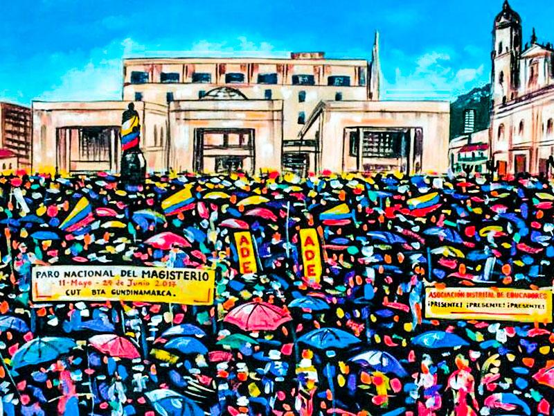 Acto de reconocimiento de la CUT Bogotá Cundinamarca a la ADE