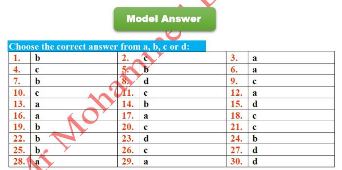 إجابة بوكليت الوزارة الثانى لغة انجليزية ثانوية عامة ٢٠١٩  - موقع مدرستى