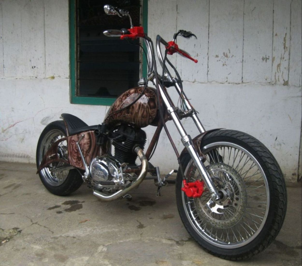 Download 82 Modifikasi Motor Cb Chopper Terlengkap Fire Modif