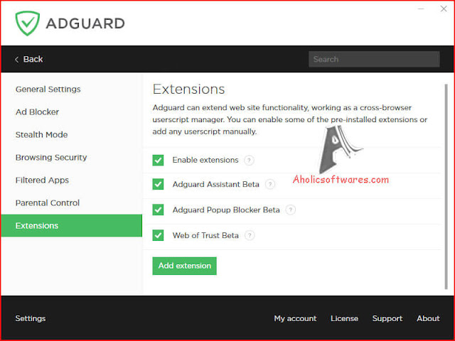 Adguard Premium is one of the best ad blocker and pop-up killers for all web browsers, protect your computer from many other threats.