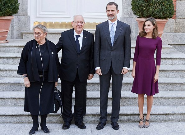 Queen letizia wore Hugo Boss Kusima Dress