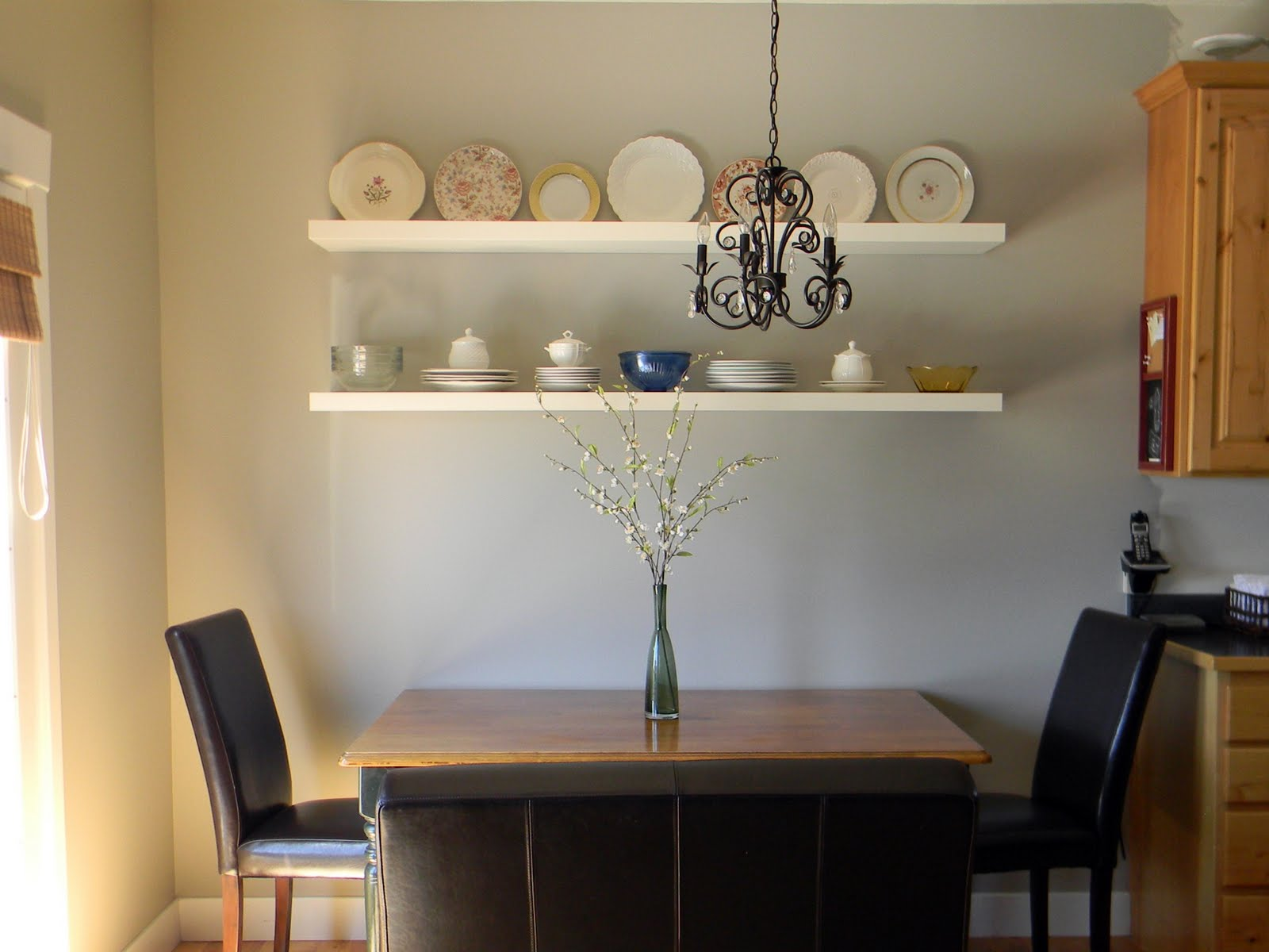 Dining Room Wall Shelves Great Ideas Decorating Solutions 4