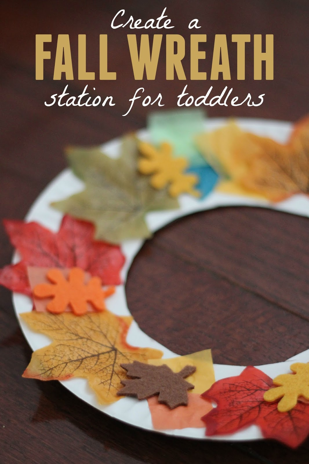 Toddler Approved Fall Wreath Making Station For Toddlers