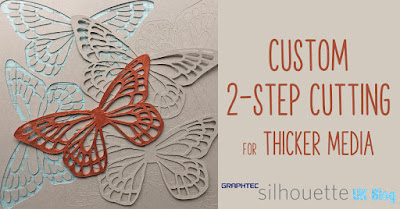 ** TUTORIAL ** Two-Step Cutting for Chipboard and Thicker Cardstock. Butterfly - Angel - Fairy Wings cut from Silhouette Chipboard. Designed by Janet Packer https://craftingquine.blogspot.co.uk for Graphtec, Silhouette UK.