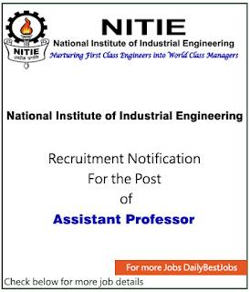 NITIE Job