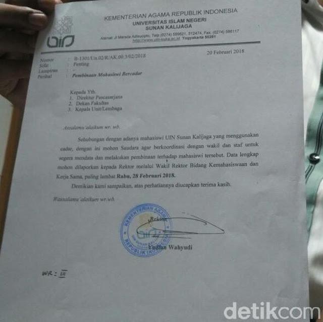 UIN Yogyakarta Keluarkan Aturan Larangan Bercadar, Mahasiswi : Itu Hak Pribadi !