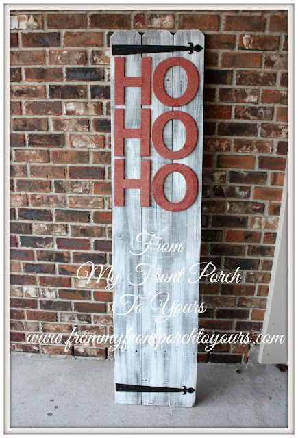 DIY planked Christmas sign