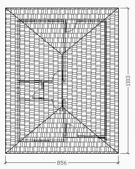 cara menghitung luas atap rumah bentuk perisai proyek sipil