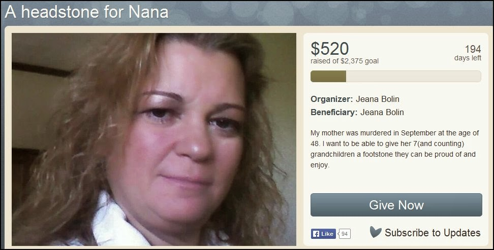 http://www.youcaring.com/memorial-fundraiser/a-headstone-for-nana/131759