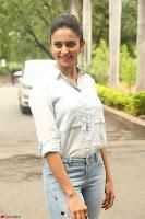 Rakul Preet Singh in Jeans and White Shirt At Jaya Janaki Nayaka le Logo Launch ~  Exclusive 022.JPG