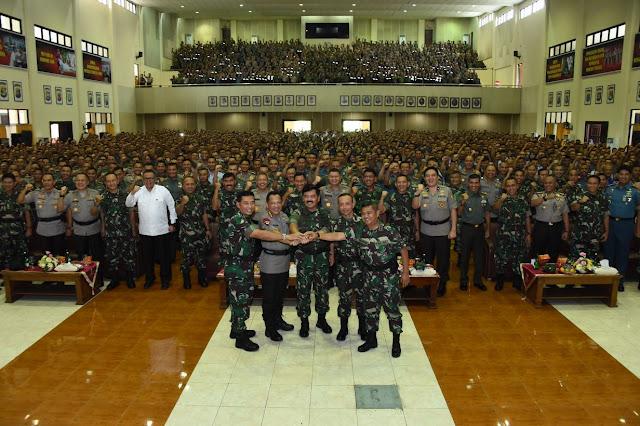 Panglima TNI : Jaga Kepercayaan Rakyat kepada TNI dan Polri