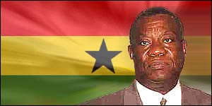 The president of Ghana, John Evans Atta Mills