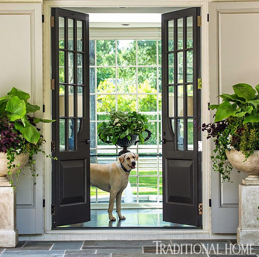 Exterior French Doors: Splendid Sass: LISA HILDERBRAND