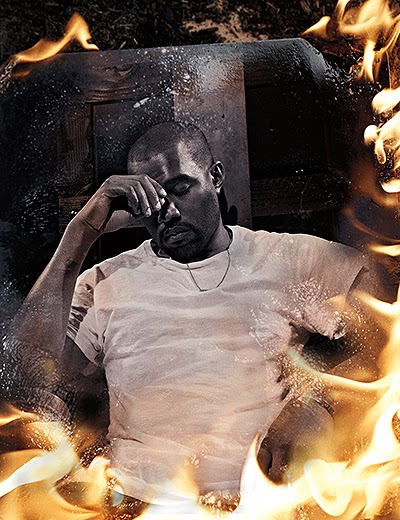 Kanye West in new photoshoot